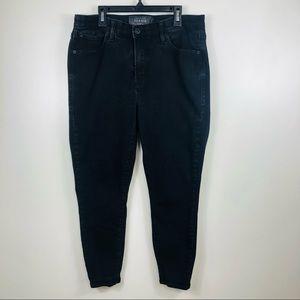 Torrid Black Sky High Skinny Crop Denim Jeans